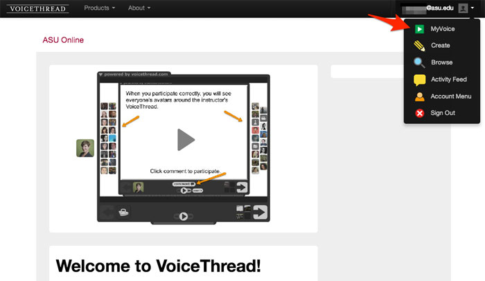 how to create voicethread in blackboard